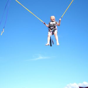 Bungy trampoline good times.