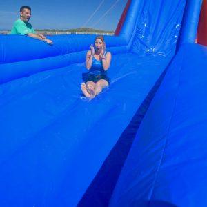Another happy water slide customer.