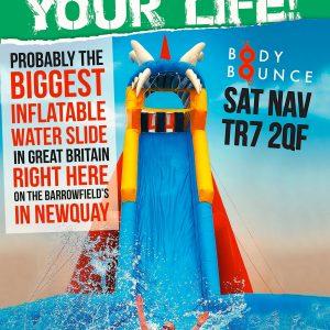 It's true, our water slide is massive!